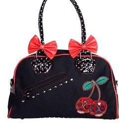 Cherry calaveras lunares Vintage bolso de mano