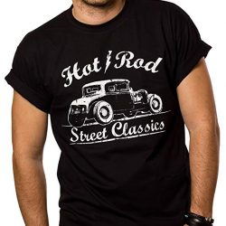 Camiseta Rockabilly Motivo Hot Rod