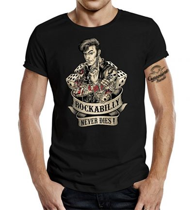 GASOLINE BANDIT® Rockabilly Camiseta original Diseno: Rockabilly never dies! II