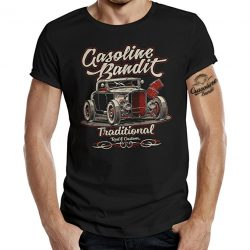 GASOLINE BANDIT® Rockabilly Hot-Rod RacerCamiseta Original Diseno: Traditional