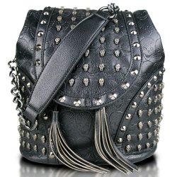 Miss Lulu L1414 - Bolso mochila para mujer Negro negro