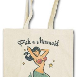 Urban Backwoods Pick A Mermaid Hipster Bag – Sirena Ondine Poseidon Neptun Sea Beach Tattoo Anchor Oldschool Flash Nautical Star Rockabilly Rockabella Psychobilly
