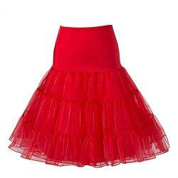 BOOLAVARD 50's Petticoat Underskirt Retro Vintage 1950's Rockabilly White, Black, Red