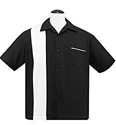 STEADY CLOTHING Oxford- Single Panel Camisa para Hombre, Negro, FR: XL (Talla Fabricante: XL)