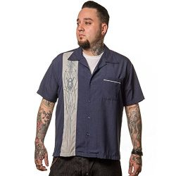 STEADY CLOTHING V-8 Pinstripe Panel Camisa para Hombre