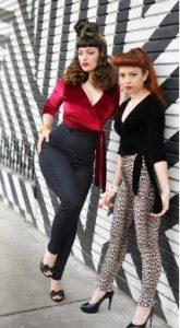 pantalones rockabilly mujer