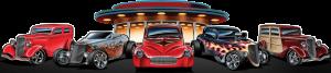 coche clásico rockabilly